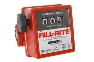 Flow Meter Fill Rite 1 5 Inch 4 Digit fill rite 807c 3 wheel mechanical meter for fuel or