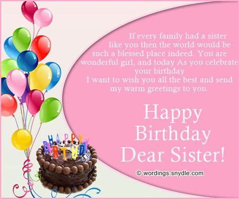 Happy Birthday Younger Wishes 17 Best Ideas About Sister Birthday Message On Pinterest