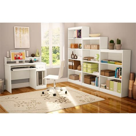 South Shore 3 Shelf Pure White Bookcase Ebay 3 Shelf White Bookcase