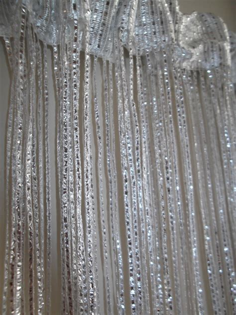 Silver Glitter Curtains White Silver Glitter Door Curtain Fly Insect Bug Screen String Fringe Window New Ebay
