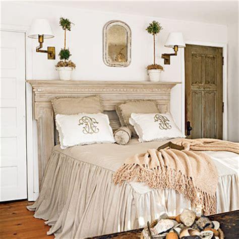 soothing beachy bedrooms mantle headboard mantle and