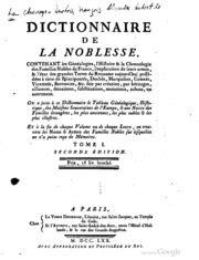 1293807206 dictionnaire de la noblesse contenant dictionnaire de la noblesse contenant les g 233 n 233 alogies l