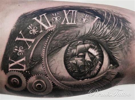 eye tattoo with reflection mechanical eye tattoo www pixshark com images