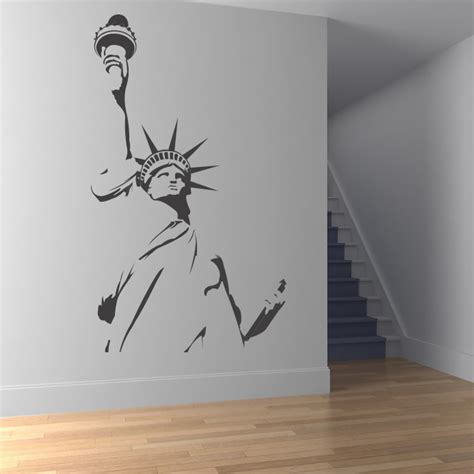 statue of liberty wall sticker statue of liberty outline new york wall stickers wall