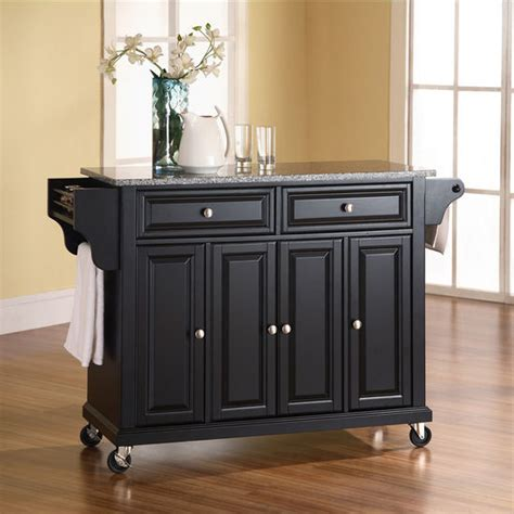 granite top kitchen island cart crosley furniture alexandria cambridge lafayette or