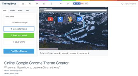 create theme for google chrome online how to create your own google chrome theme techlila