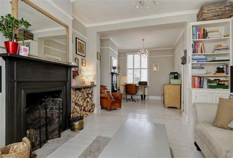 open plan terraced house white floorboards open plan sitting room dining room victorian terrace for the