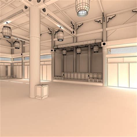 Japanese Temple Interior by 3d Model Japanese Temple Interior 69 95 Buy