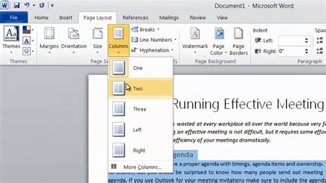 how to change the template in word business productivity 187 how to format your text into two