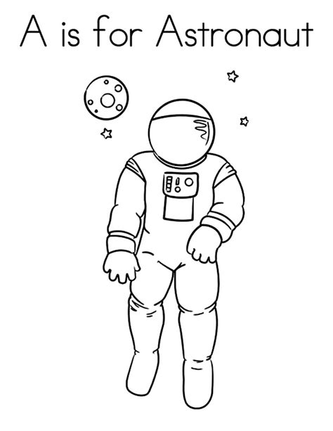 astronaut coloring pics about space