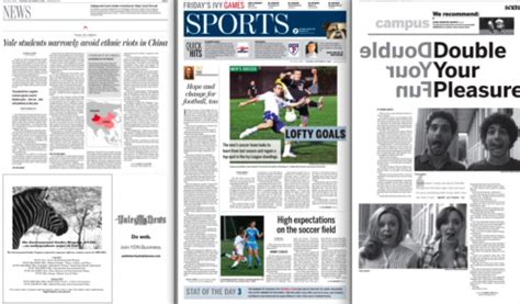 daily news sports section blog the yale daily news one year later strong design