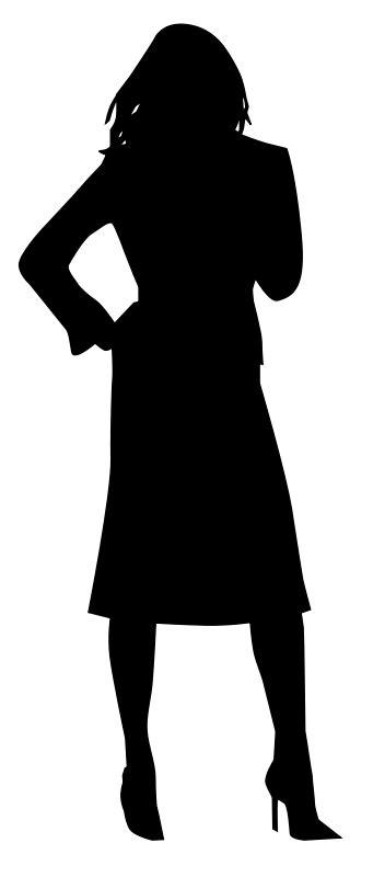 Garskin Hp Gambar Womens Back Stiker silhouette free vector 4vector