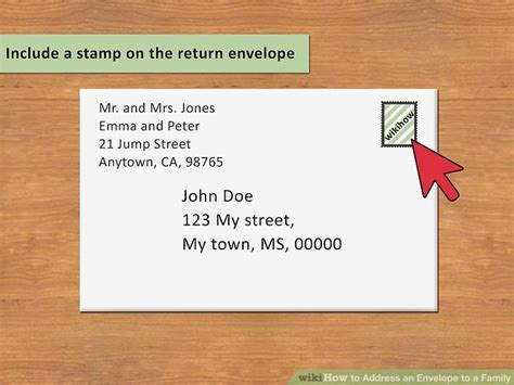 should i put return address on wedding invitation 3 ways to address an envelope to a family wikihow