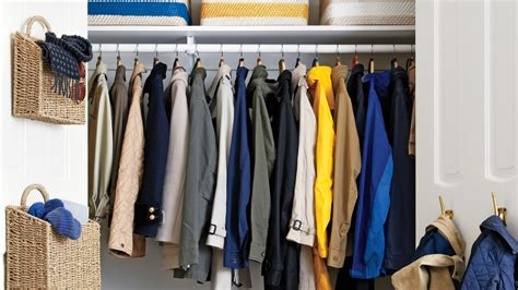 Coat Closet Systems Declutter The Coat Closet Martha Stewart Home Garden