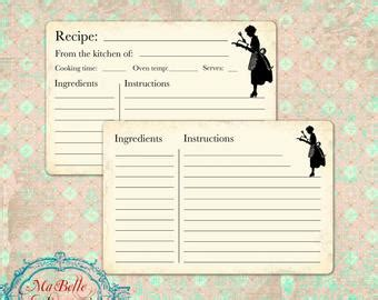 typeable recipe card template etsy popular items for recipe cards retro on etsy