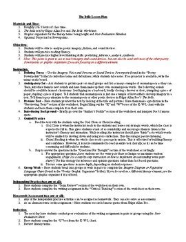 edgar allan poe biography handout edgar allan poe worksheets casademateo