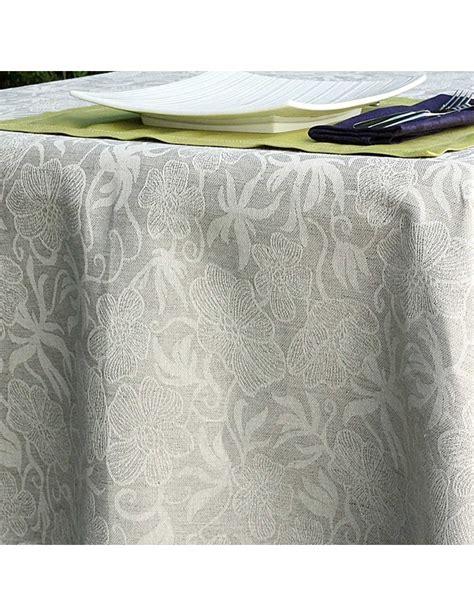 Nappe A Repasser Pour Table 4715 by Nappe Jacquard Fleurs En Et Coton