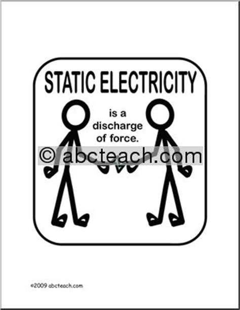 poster physics static electricity color abcteach