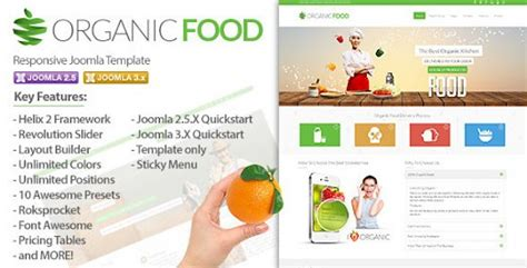 themeforest organic food download free joomla themes templates scripts graphics