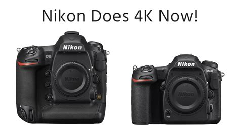new nikon 4k dslr cameras introduced nikon d500 d5 cinema5d