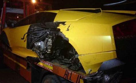 Lamborghini Murcielago Sv Price In India India S Only Lamborghini Murcielago Sv Crashes In