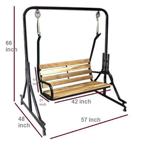buy indoor swing buy kaushalendra garden zula indoor swing teak wood on