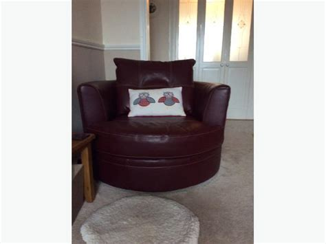 Large Leather Corner Suite With Swivel Cuddle Chair Leather Swivel Cuddle Chair