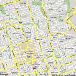 map of toronto canada hotels accommodation