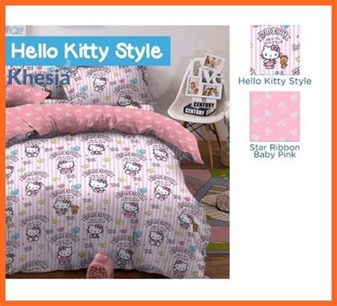Sprei Hello Terbaru sprei motif kartun ukuran 180x200 bisa cocok dengan bed covernyagorden karakter jual gorden