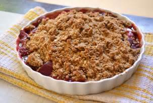 strawberry plum crumble with sour