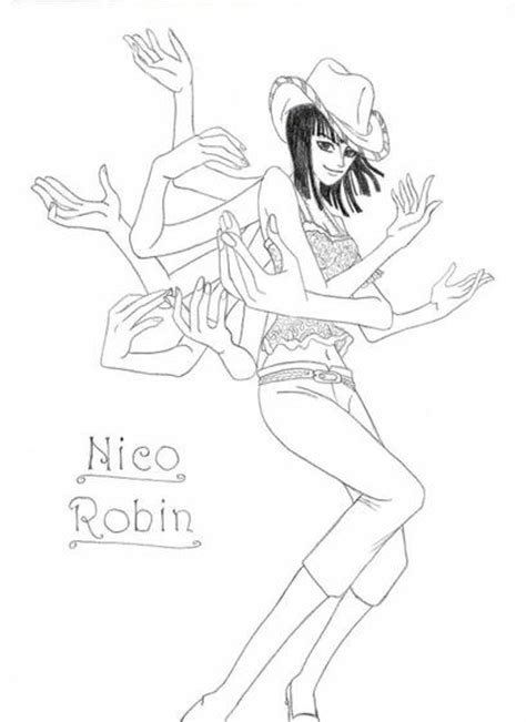Comment dessiner nico robin