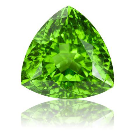Peridot August Gemstone by Pakistan Peridot Trillion 12 06ct King Gems