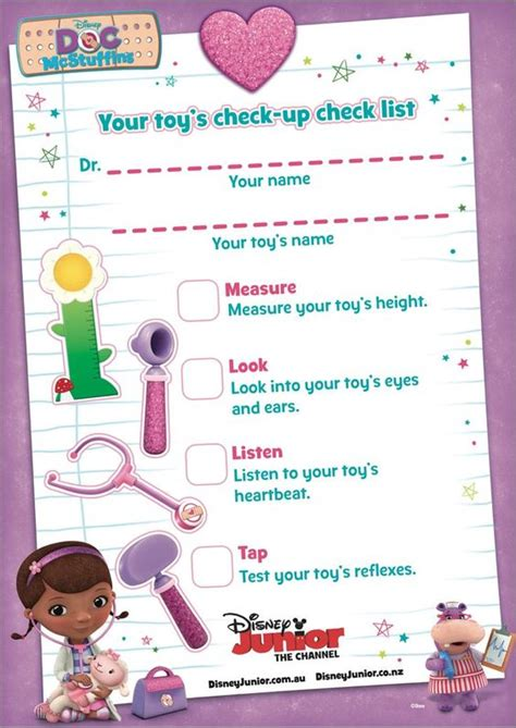 Doc Mcstuffins Worksheets by Doctor Pretend Play With Free Printable Doctor S