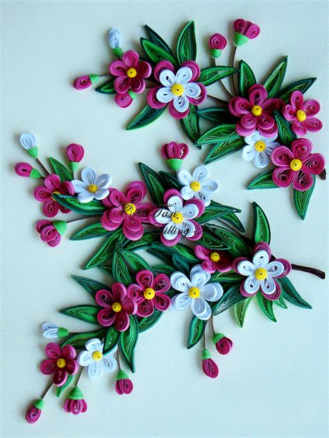 quilling design quilled flowers leaves paper quilling pinterest