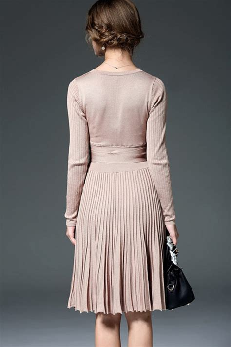 4783top Sleeve Japanese Ribbon Knitted closet rakuten global market great mid length dresses knit west ribbon one pleated