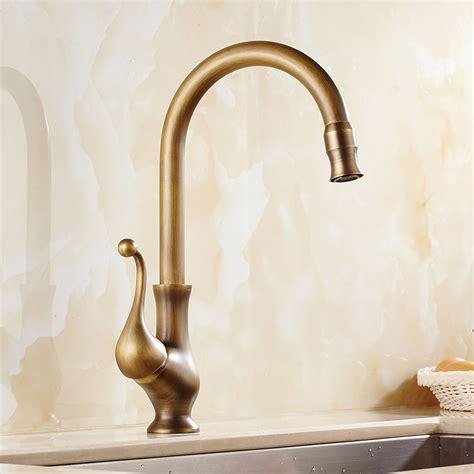 antique kitchen sink faucets saguache antique brass single handle kitchen sink faucet