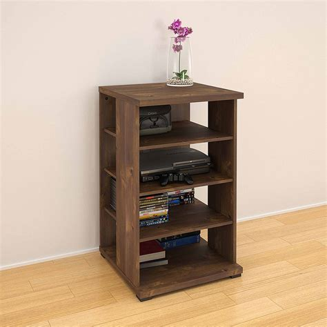small audio cabinet south shore solid black audio tower city collection