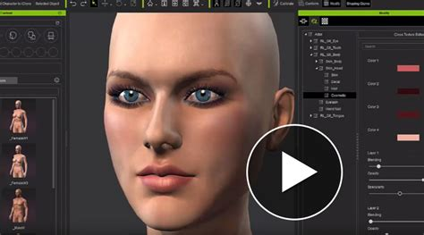 make create a person virtual people character games character creator design unlimited 3d characters iclone