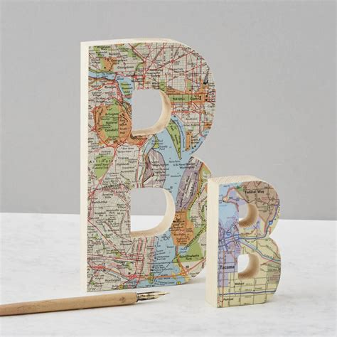 Wedding Anniversary Locations by Map Location Wooden Letter Wedding Anniversary Gift By