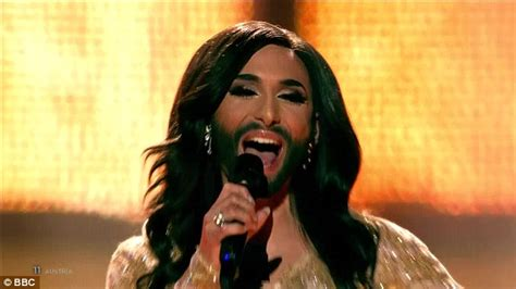 who won the contest conchita wurst wins eurovision 2014 while uk trails in 17th place daily mail
