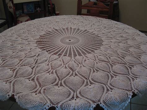 pattern crochet round tablecloth round tablecloth pineapple pattern hand crochet 62 in new