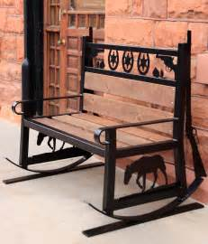 western style benches western style metal rocking bench you can make your own