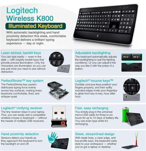 Logitech Wireless Illuminated Keyboard K800 logitech 920 002359 wireless k800 illuminated keyboard 2