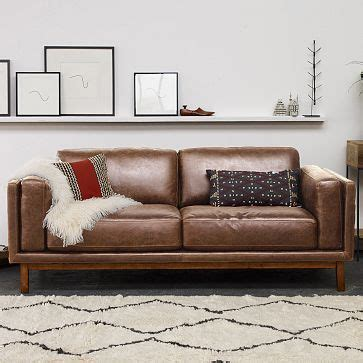 west elm leather couches dekalb premium leather sofa from west elm the leather was