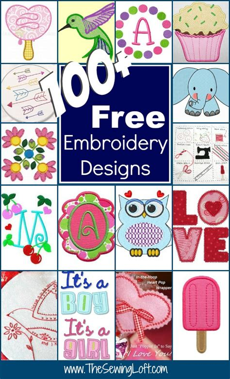 free embroidery templates 100 free embroidery designs the sewing loft
