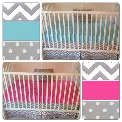 deposit bumperless crib bedding set boy fuchsia