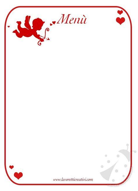 cornici menu 249 di san valentino modelli da stare