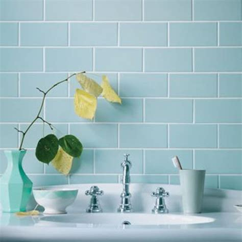 duck egg blue bathroom tiles with awesome type in