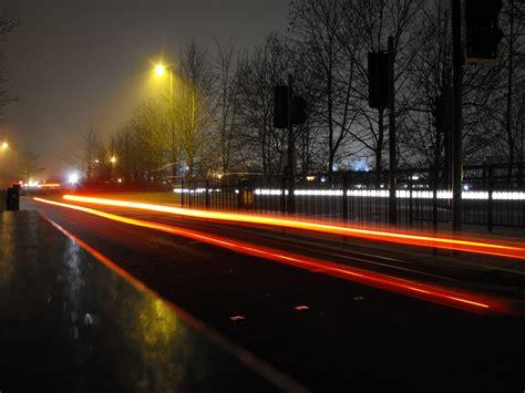 car lights file car light trails on sharsted way geograph org uk