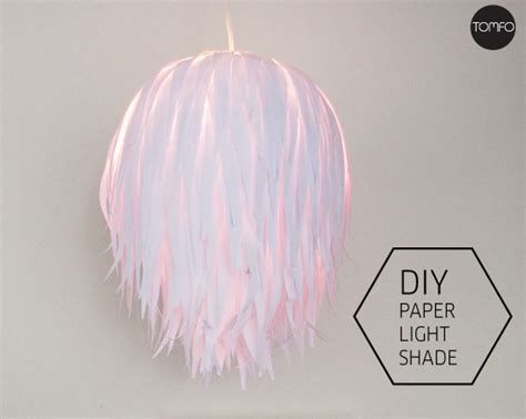 How To Make Paper Lshade - how to make a paper light shade tomfo